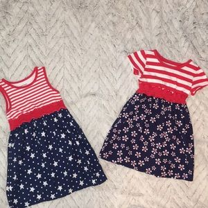 Little girls sz 4t adorable dress's bundle of 2